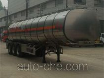 Dongfeng flammable liquid aluminum tank trailer