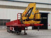 Xinkaida DLZ9400JSQ flatbed trailer mounted loader crane