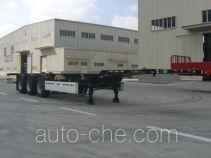 大力士牌FTW9402TJZG型伸缩式集装箱运输半挂车