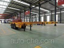 承威牌GCW9400TJZ型集装箱运输半挂车