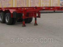 Gudemei GDM9350TWY dangerous goods tank container skeletal trailer
