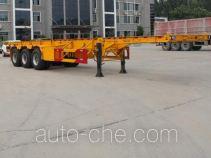 Gudemei GDM9400TWY dangerous goods tank container skeletal trailer