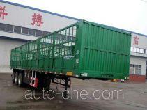 齐鲁宏冠牌GHG9400CCY型仓栅式运输半挂车