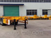 齐鲁宏冠牌GHG9400TJZ型集装箱运输半挂车