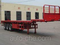 斯派菲勒牌GJC9400TPB型平板运输半挂车