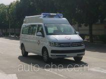 广通客车牌GPY5030XJHSHTD1型救护车