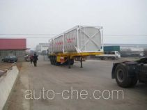 Changhua HCH9400GHYF chemical liquid transport frame tank trailer