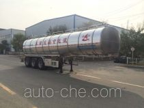 Changhua HCH9402GYS35 aluminium liquid food tank trailer