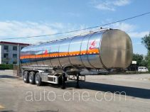 Changhua HCH9407GRY flammable liquid aluminum tank trailer