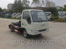 Huatong electric hooklift hoist garbage truck