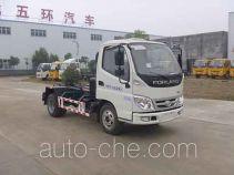 Huatong HCQ5042ZXXBJ detachable body garbage truck