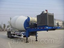 华建牌HDJ9350GJB型混凝土搅拌运输半挂车