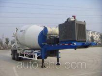华建牌HDJ9330GJB型混凝土搅拌运输半挂车