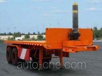 恩信事业牌HEX9351ZZXP型平板自卸半挂车