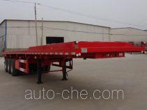 恩信事业牌HEX9401ZZXPE型平板自卸半挂车