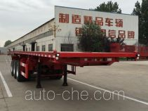 恩信事业牌HEX9402ZZXP型平板自卸半挂车