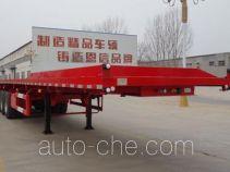 恩信事业牌HEX9403ZZXPE型平板自卸半挂车