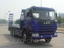 江淮牌HFC5251TPBK1R1LZT型平板运输车