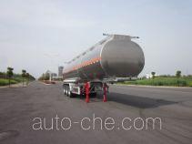 欧曼牌HFV9400GYYA型铝合金运油半挂车