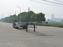 欧曼牌HFV9400TJZA型铝合金集装箱运输半挂车