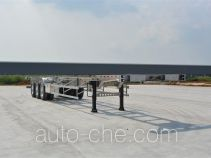 欧曼牌HFV9402TJZA型铝合金集装箱运输半挂车