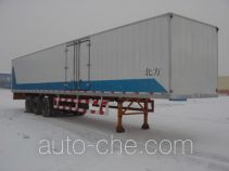 Beifang HHL9403XXY box body van trailer