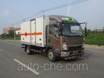 丹凌牌HLL5040XRQZ4型易燃气体厢式运输车