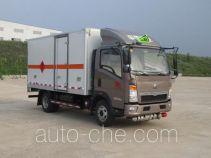 丹凌牌HLL5040XRQZ5型易燃气体厢式运输车