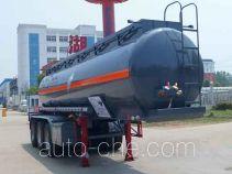 Zhongqi Liwei HLW9400GFWB corrosive materials transport tank trailer