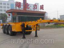 Zhongqi Liwei HLW9400TWY dangerous goods tank container skeletal trailer