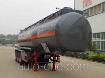 Zhongqi Liwei HLW9401GFW corrosive materials transport tank trailer