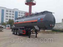 中汽力威牌HLW9408GFW型腐蚀性物品罐式运输半挂车