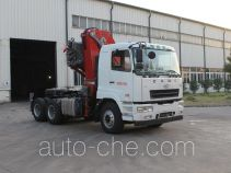 CAMC Star tractor unit mounted loader crane