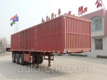 Box body van trailer
