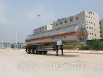 Gangyue HSD9403GRY flammable liquid aluminum tank trailer