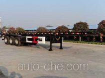 Hongtu HT9400TWY dangerous goods tank container skeletal trailer