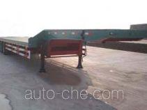 鸿天牛牌HTN9300TDP型低平板半挂车