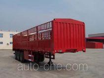 鸿天牛牌HTN9320CLXY型仓栅式运输半挂车