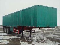 鸿天牛牌HTN9320XXY型厢式运输半挂车
