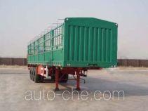 鸿天牛牌HTN9380CLXY型仓栅式运输半挂车