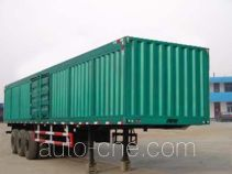 鸿天牛牌HTN9380XXY型厢式运输半挂车