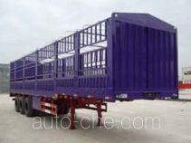 鸿天牛牌HTN9381CLXY型仓栅式运输半挂车