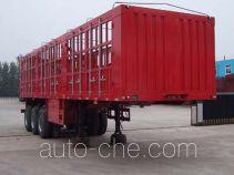 鸿天牛牌HTN9382CLXY型仓栅式运输半挂车