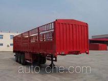 鸿天牛牌HTN9390CLXY型仓栅式运输半挂车