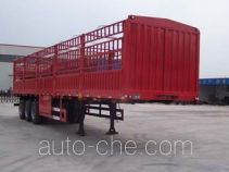 鸿天牛牌HTN9391CLXY型仓栅式运输半挂车