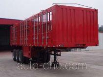 鸿天牛牌HTN9392CLXY型仓栅式运输半挂车