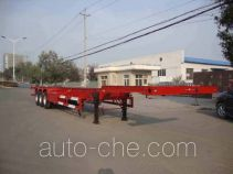 红宇牌HYJ9401TWY型危险品罐箱骨架运输半挂车