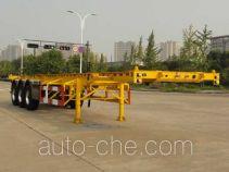 Hongzhou HZZ9402TWY dangerous goods tank container skeletal trailer