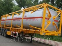 Jiancheng JC9401GHY chemical liquid transport frame tank trailer
