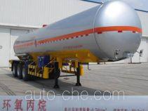 Jiancheng JC9402GRYHYBW flammable liquid tank trailer